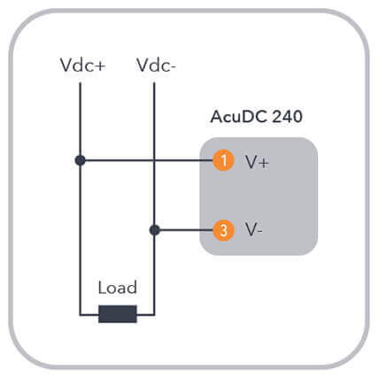 figure 1: voltage direct wiring